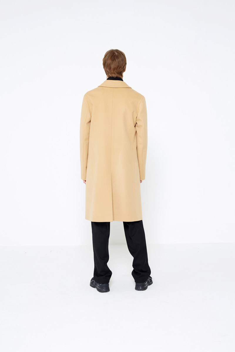 인사일런스(IN SILENCE) Peak Double Cashemere Coat Beige