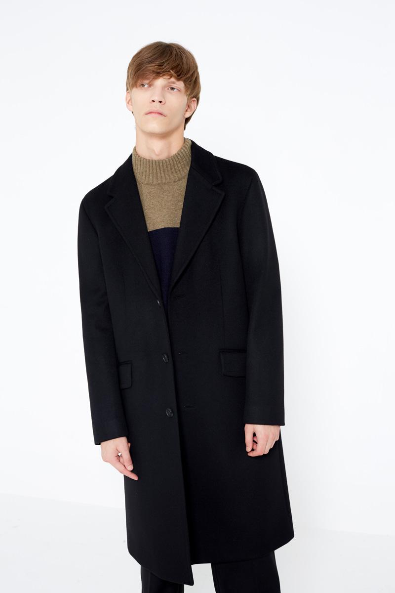 인사일런스(IN SILENCE) Chester Cashmere Coat Black