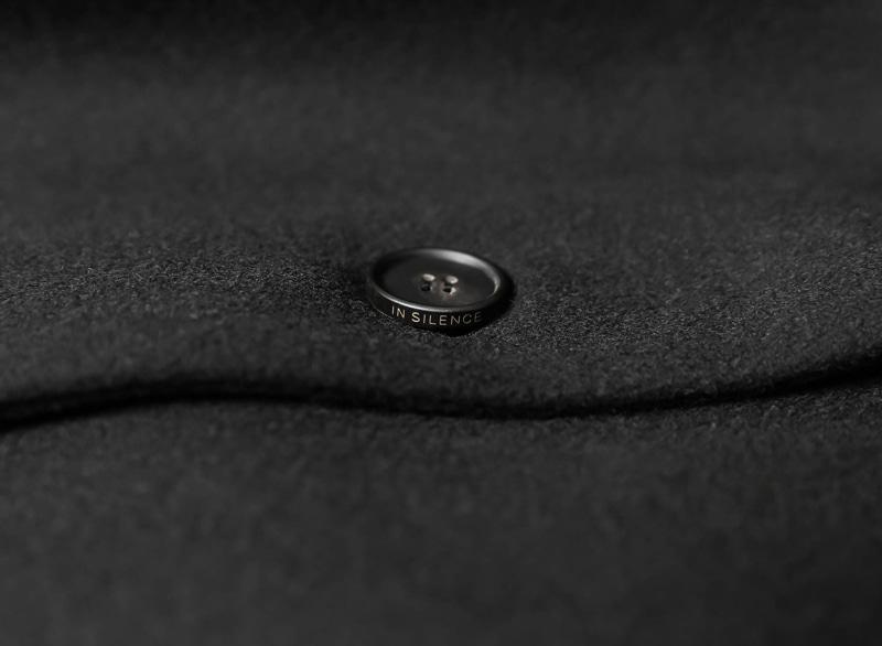 인사일런스(INSILENCE) Solist Oversize Cashmere Coat Black