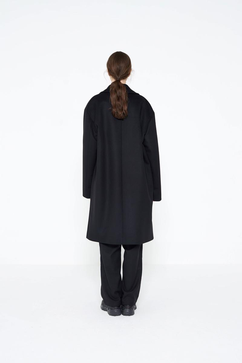 인사일런스(INSILENCE) Double Oversize Cashmere Coat Black