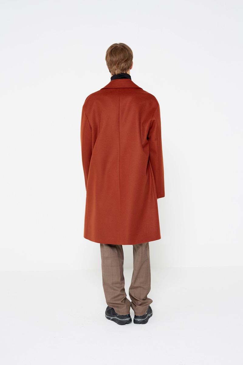 인사일런스(INSILENCE) Double Oversize Cashmere Coat Brick Red