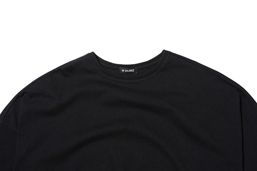 인사일런스(INSILENCE) SOLID CREW NECK LONG SLEEVES (black)