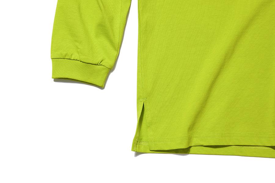 인사일런스(INSILENCE) SOLID CREW NECK LONG SLEEVES (yellow green)