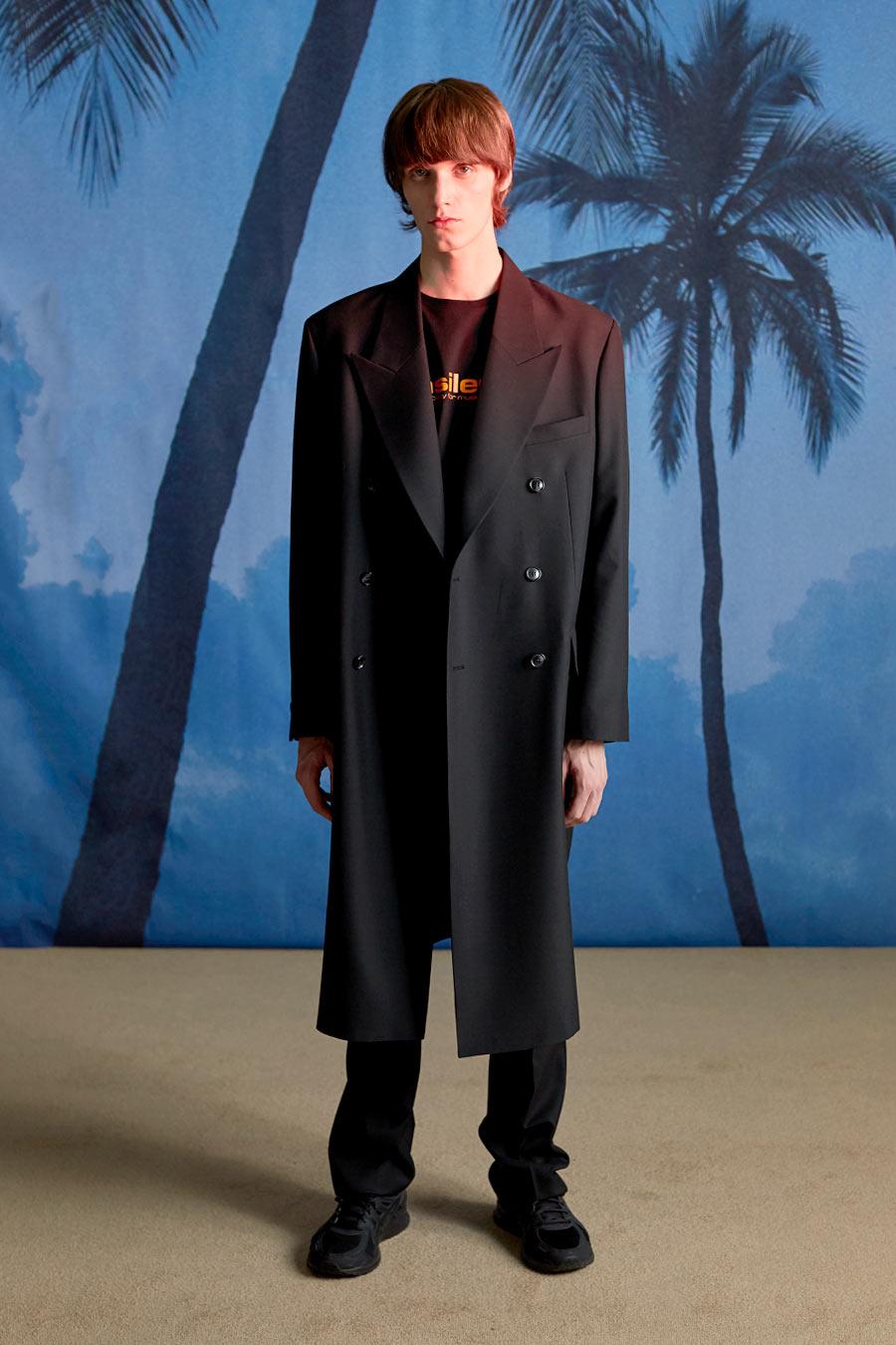 인사일런스(IN SILENCE) WOOL DOUBLE OVER COAT black