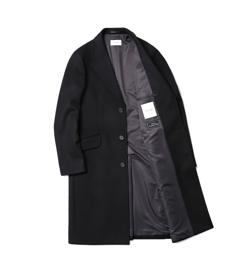 인사일런스(IN SILENCE) Chester Cashmere Coat Black